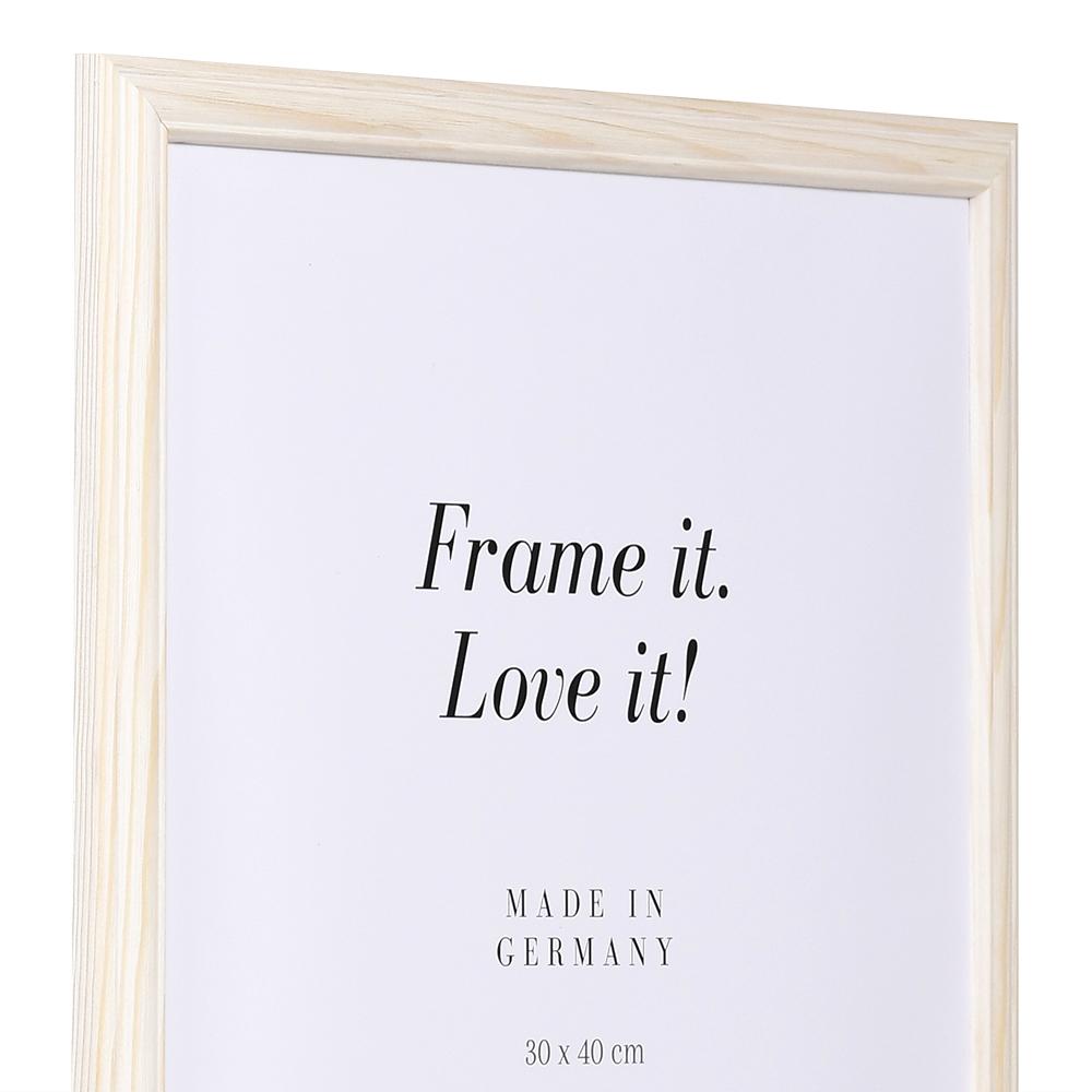 Holz Bilderrahmen Saint-Michel 50x65 | natur-weiß | Normalglas