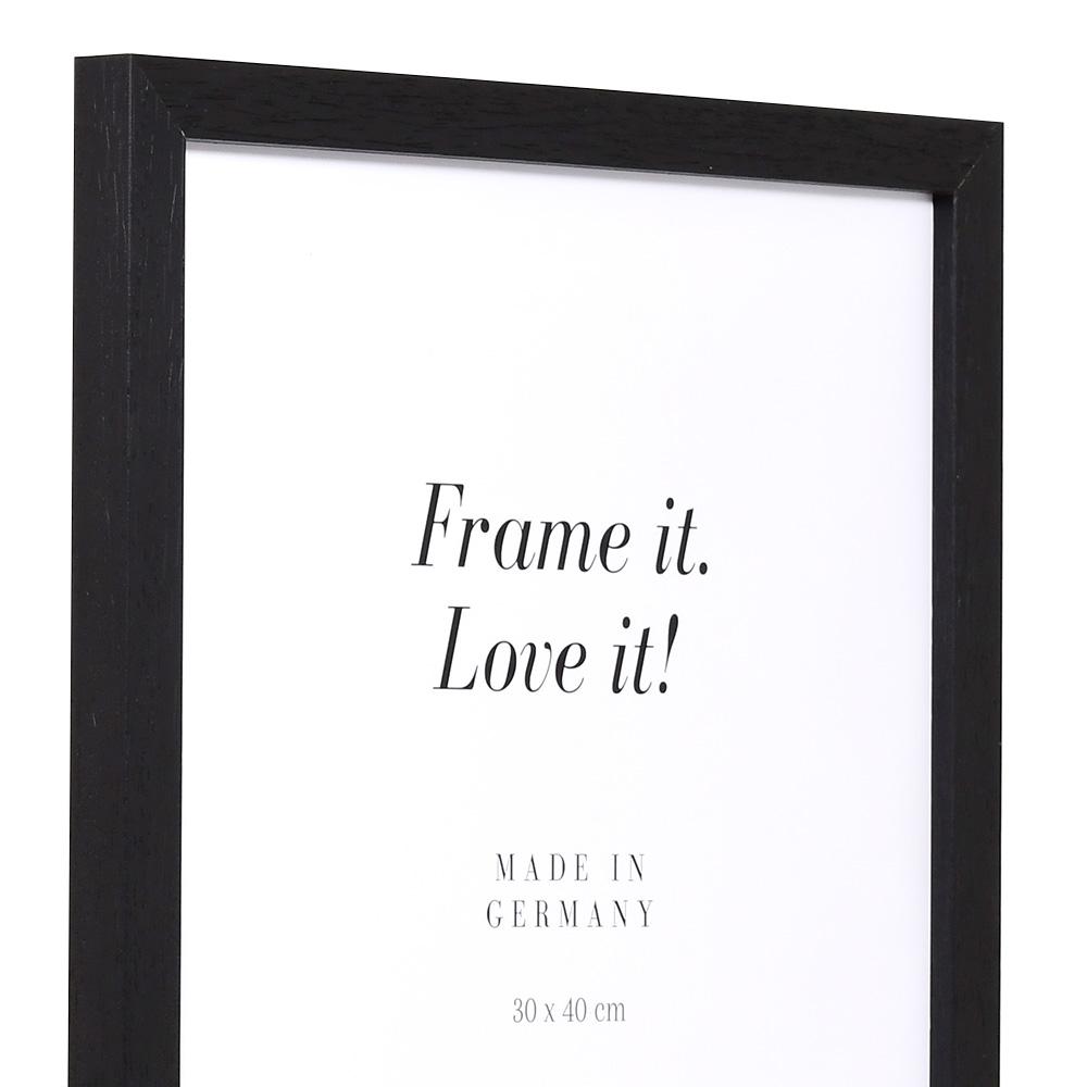 Holz Bilderrahmen Lothringen 9x13 cm | schwarz | Normalglas