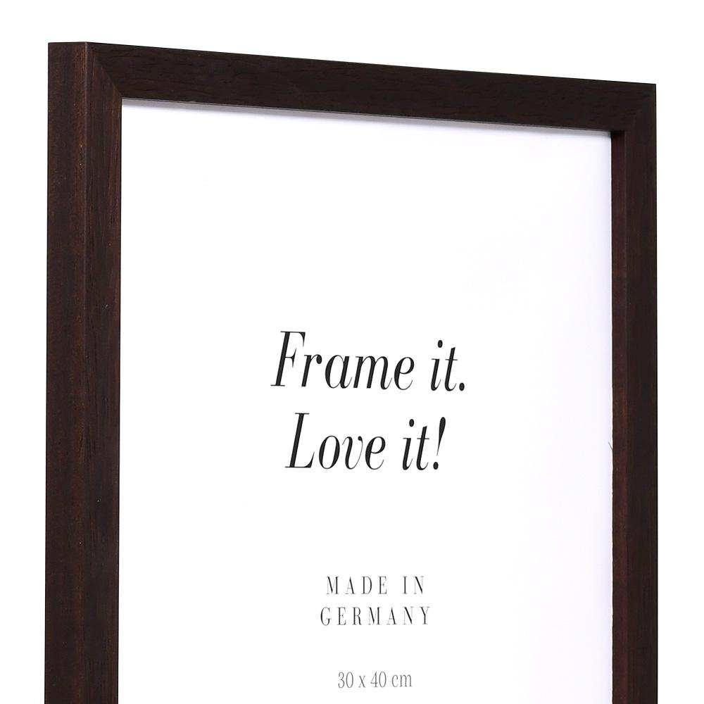 Holz Bilderrahmen Lothringen 9x13 cm | wenge | Normalglas