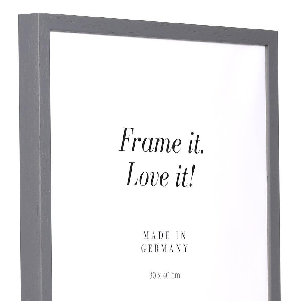 Holz Bilderrahmen Burgund 9x13 cm | grau | Normalglas