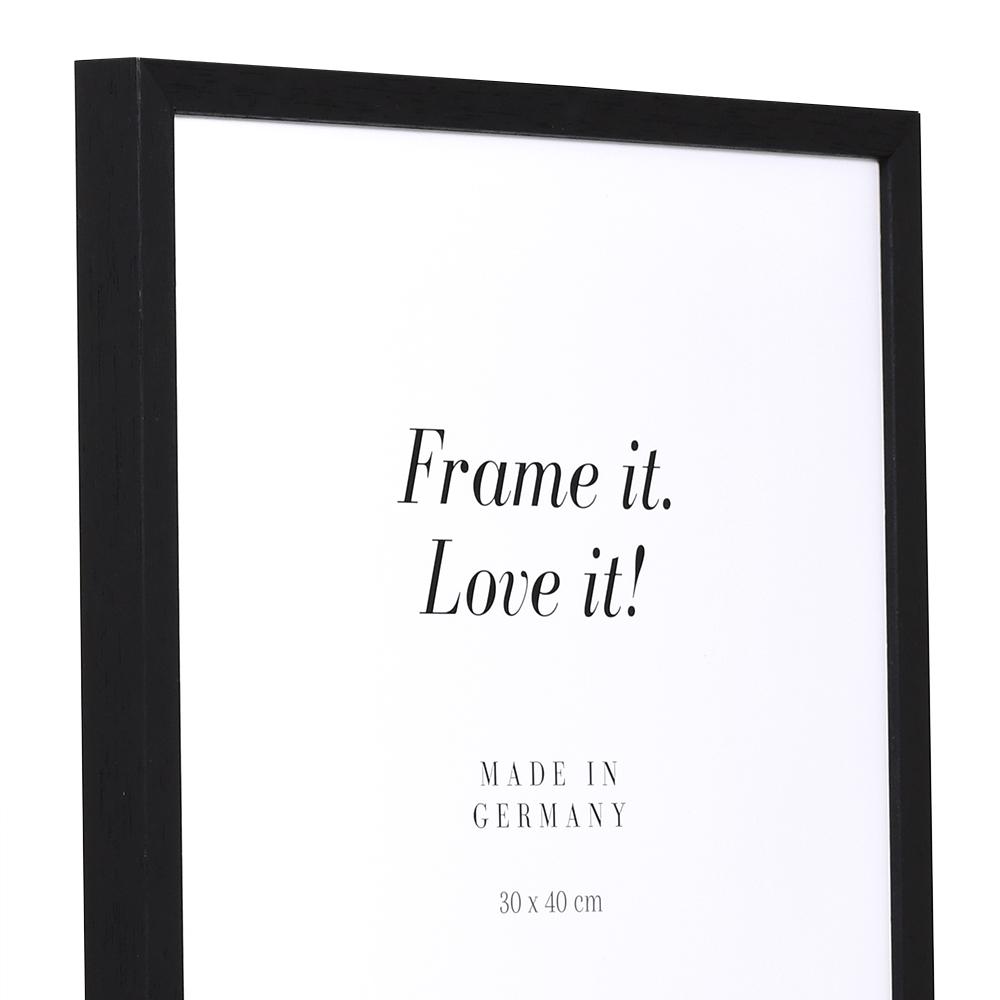 Holz Bilderrahmen Burgund 9x13 cm | schwarz | Normalglas