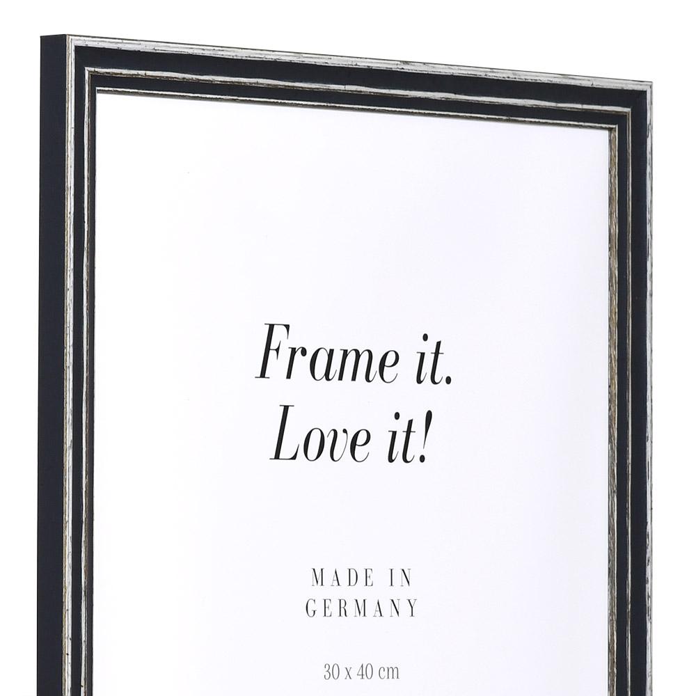 Holz Bilderrahmen Dijon 13x18 cm | grau | Normalglas