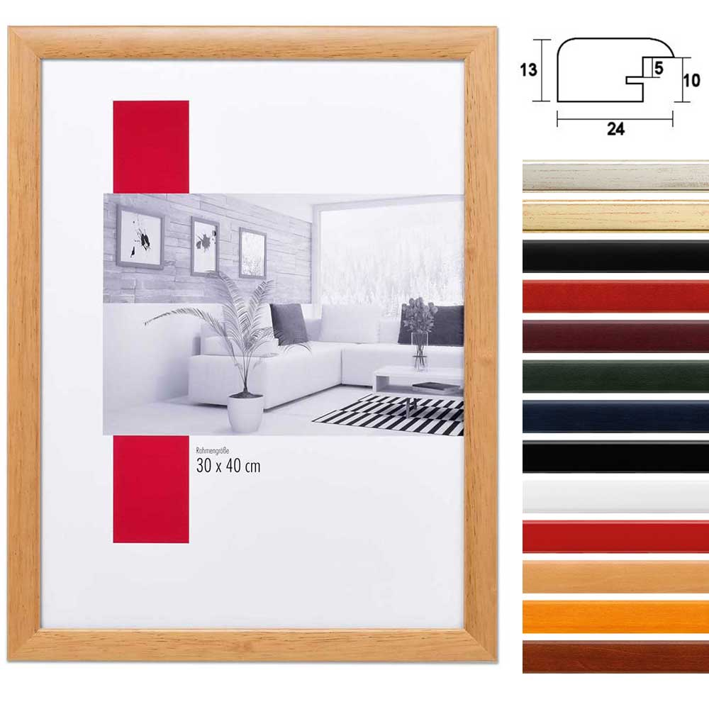 mira holzrahmen paris ma anfertigung silber normalglas. Black Bedroom Furniture Sets. Home Design Ideas