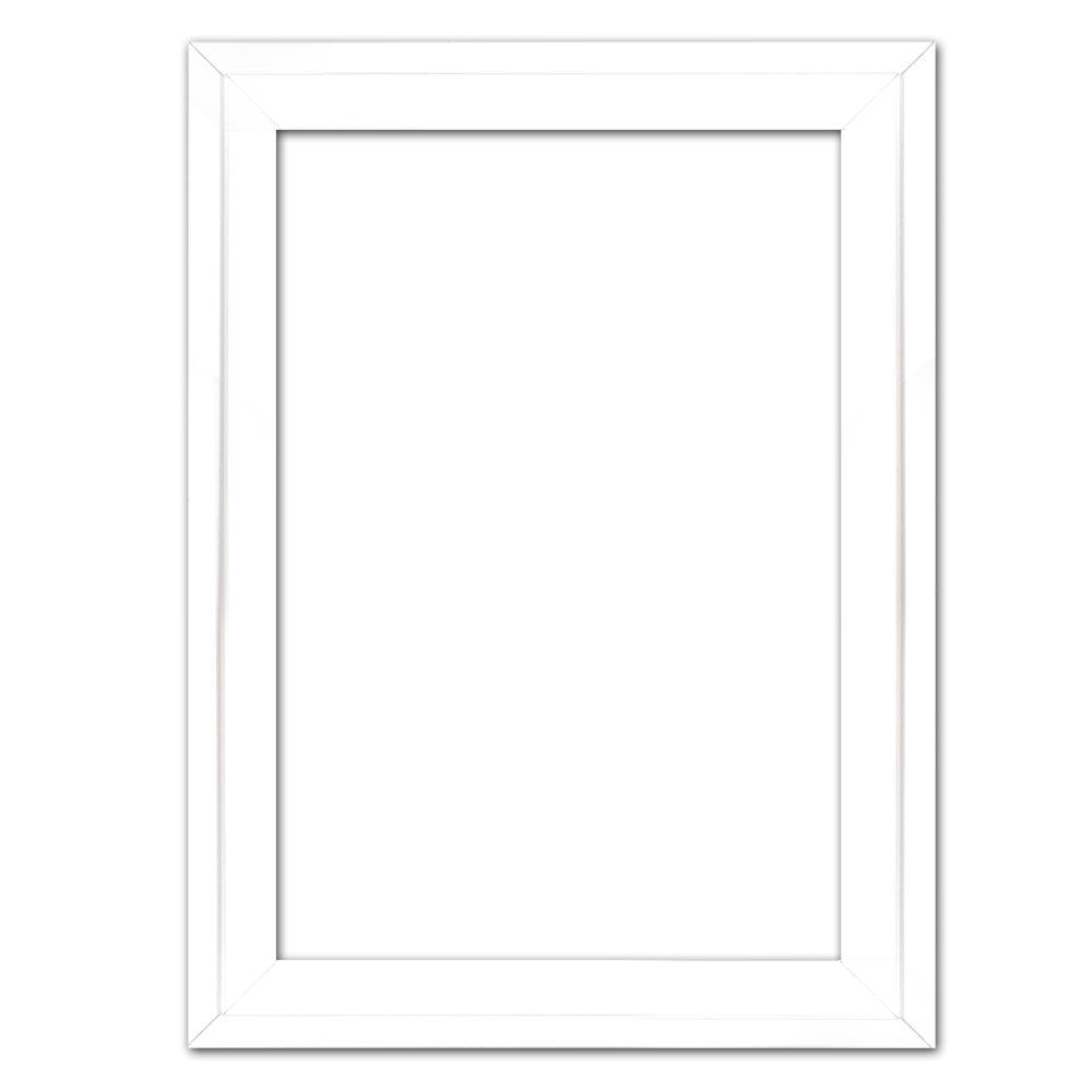 Schattenfugenrahmen Eclipse, Weiß 50x100 cm | Weiß | Leerrahmen (ohne Glas und Rückwand)