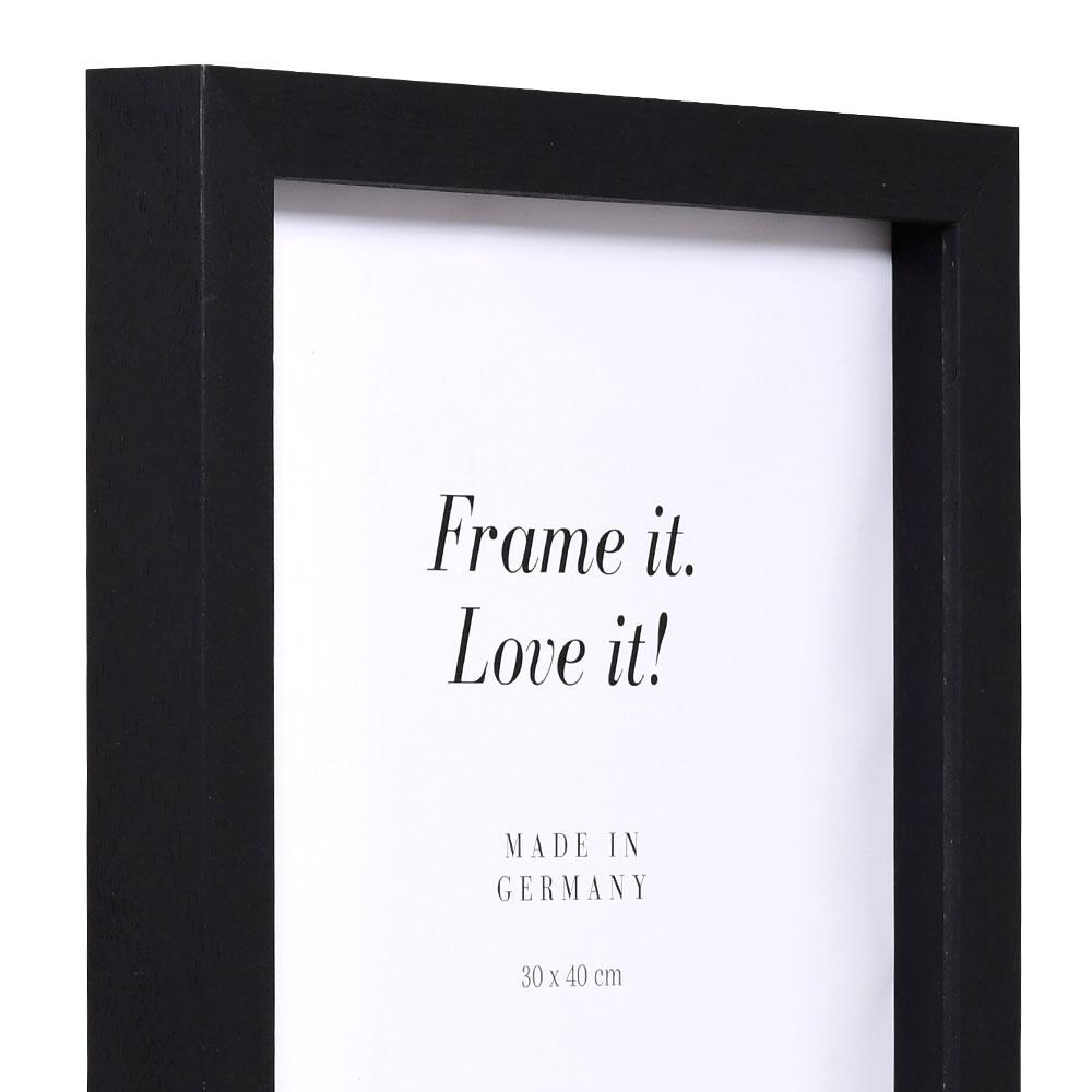 Nouvelle mit Abstandsleiste 9x13 | schwarz | Normalglas