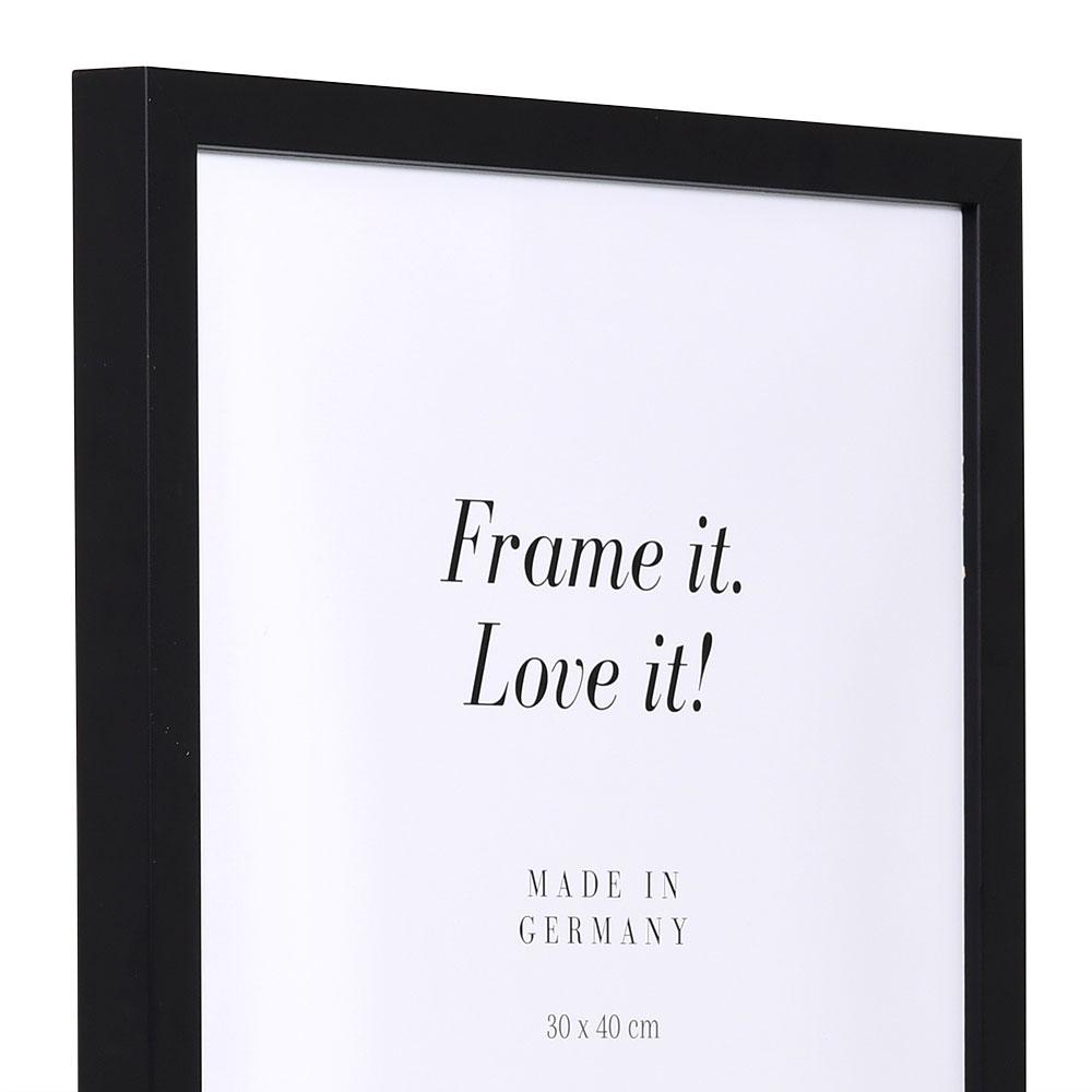 Holzrahmen Figari 30x40 | schwarz | Normalglas