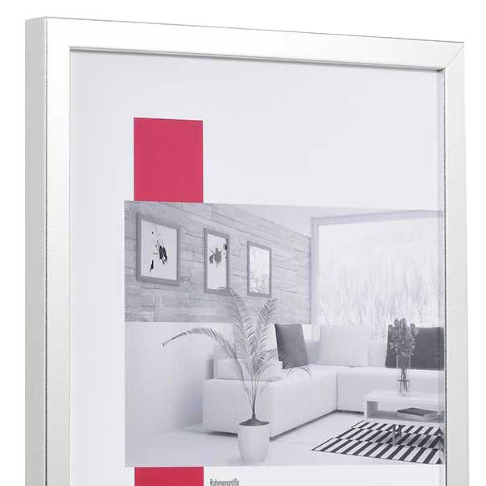 Holz-Bilderrahmen Figari 40x50 cm | silber | Normalglas