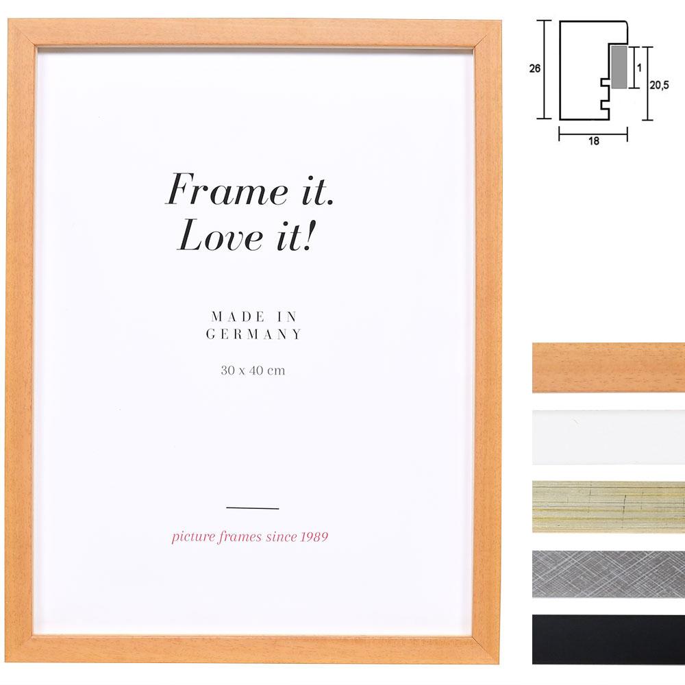 Holz-Bilderrahmen Figari mit Abstandsleiste