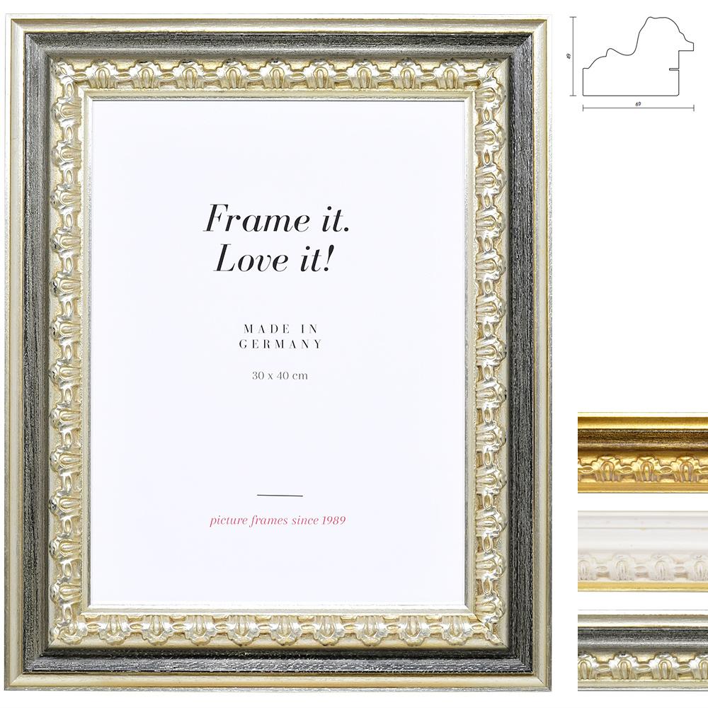 mira barockrahmen orsay 30 5x91 5 wei gold normalglas. Black Bedroom Furniture Sets. Home Design Ideas