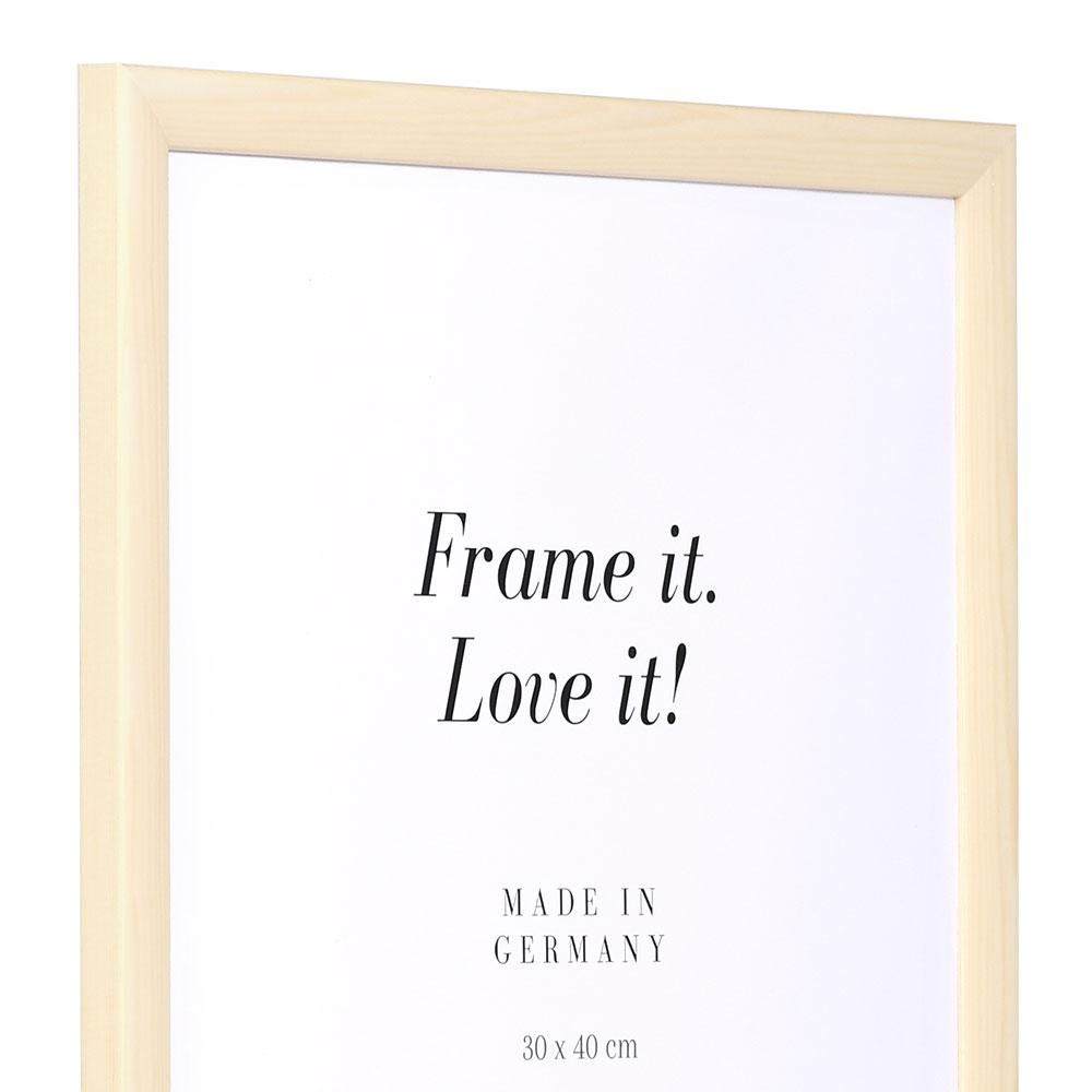 Holzrahmen Korsika 50x65   natur-weiß   Normalglas