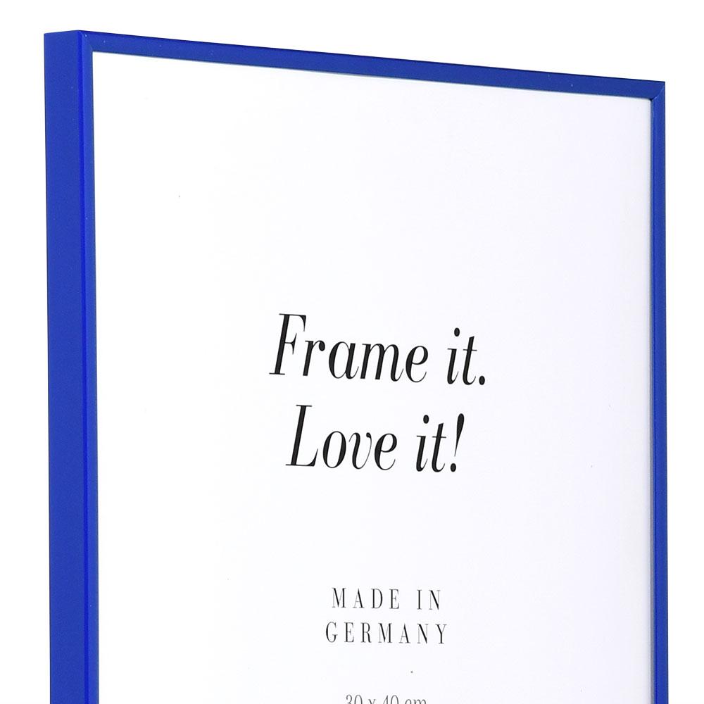 "Kunststoffrahmen ""Art"" 40x40 | blau | Normalglas"