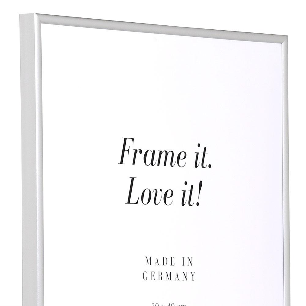 Kunststoff Bilderrahmen Art 30x40 cm | Silber matt | Normalglas