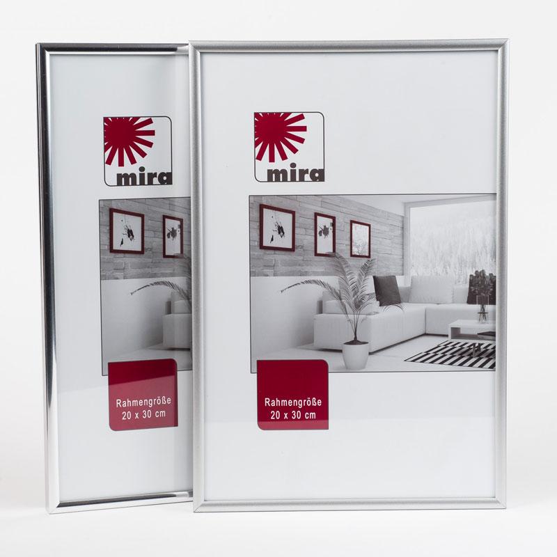 "Kunststoffrahmen ""Art"" - Alu-Like 30x40 | Silber matt | Normalglas"