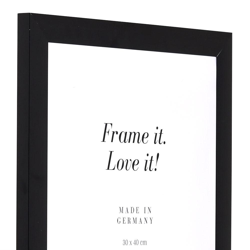 Alu Bilderrahmen Econ breit 13x18 cm | schwarz | Normalglas