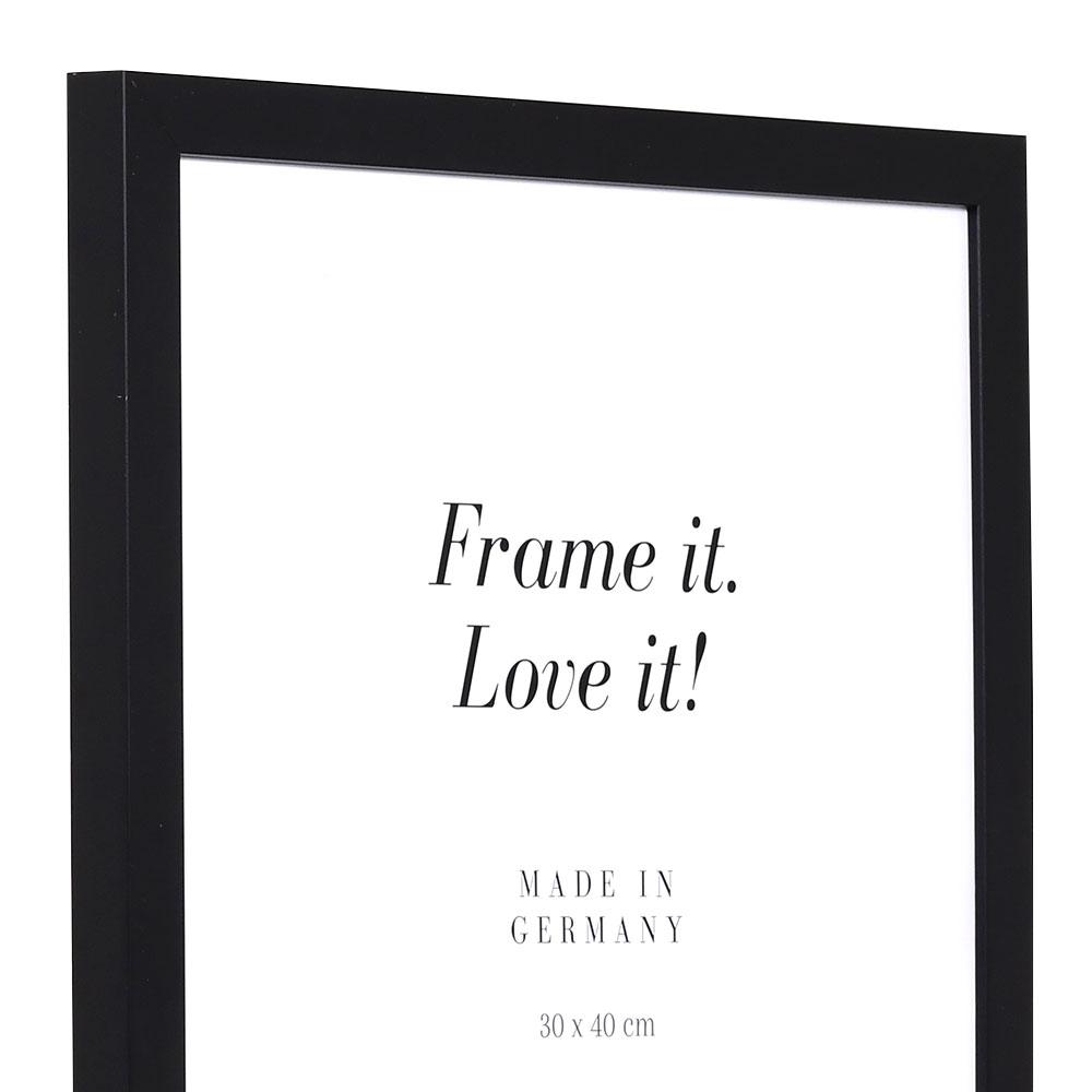 Holz Bilderrahmen Top Cube 20x20 cm | schwarz | Normalglas