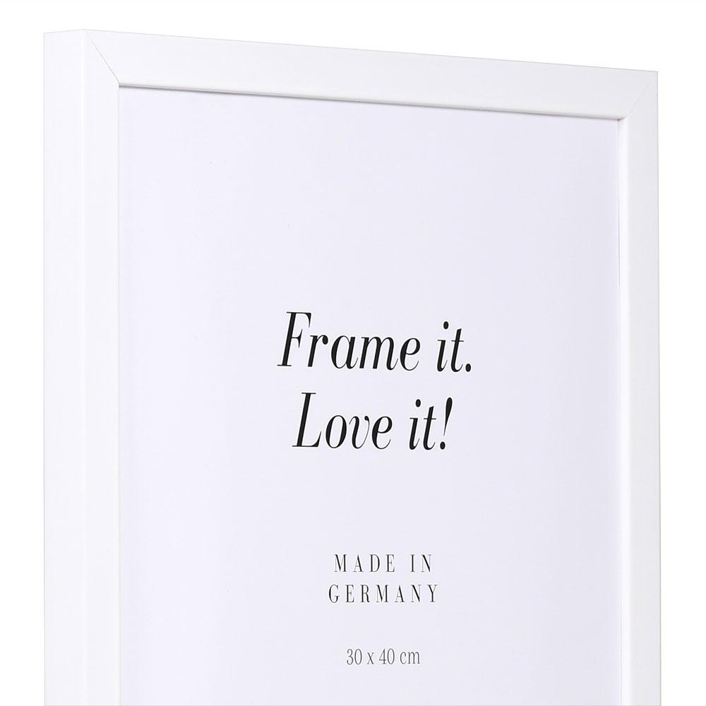 Holzrahmen Top Cube 40x50 | weiß | Normalglas
