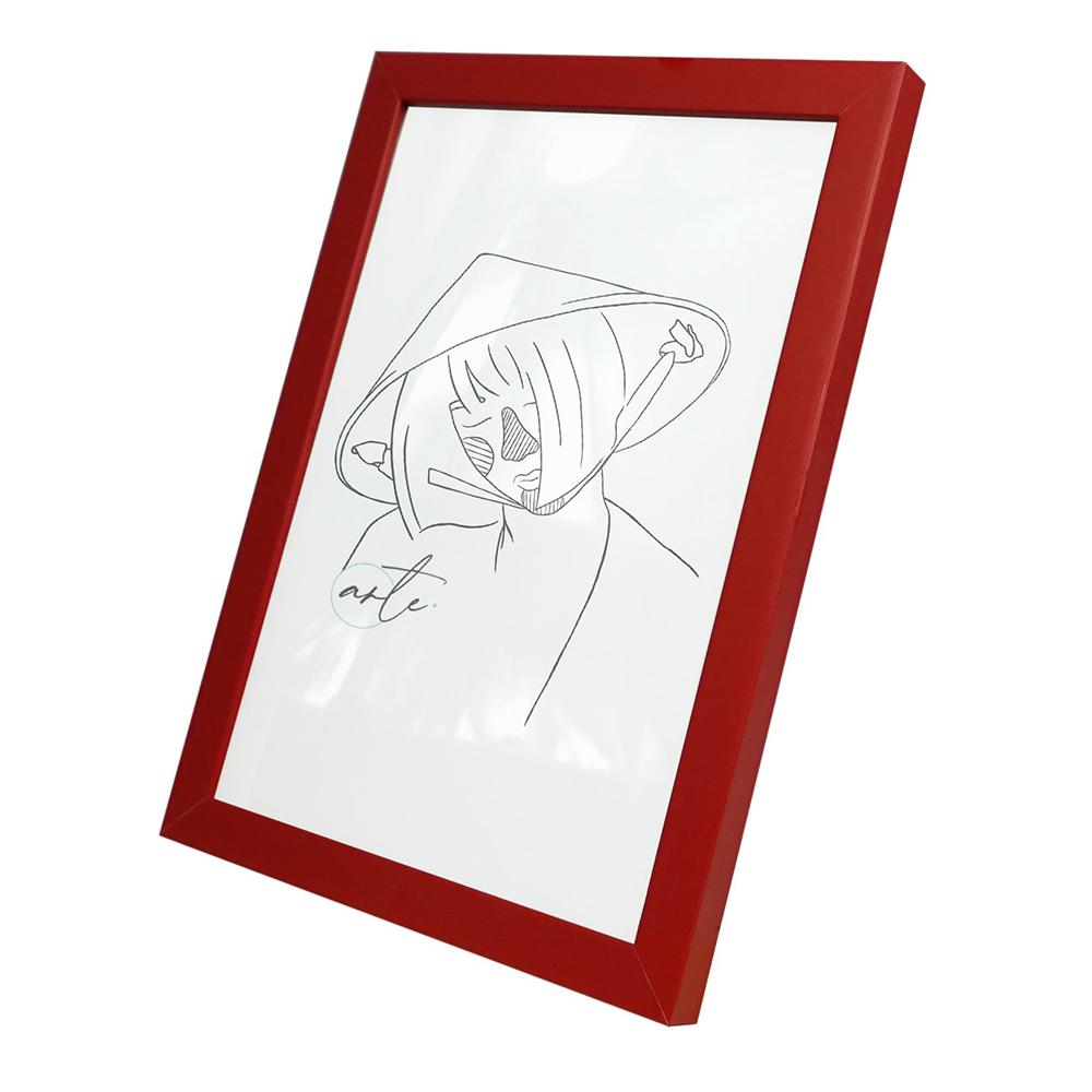 Kunststoffrahmen Vanessa 9x13 cm | Rot | Kunstglas