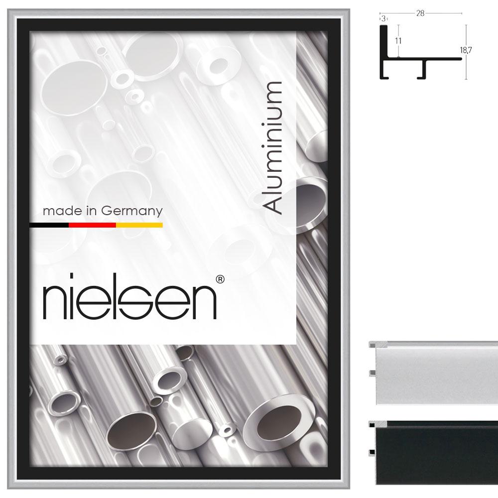 Schattenfugenrahmen Profil 230 40x60 cm | Silber matt | Leerrahmen (ohne Glas/Rückwand)
