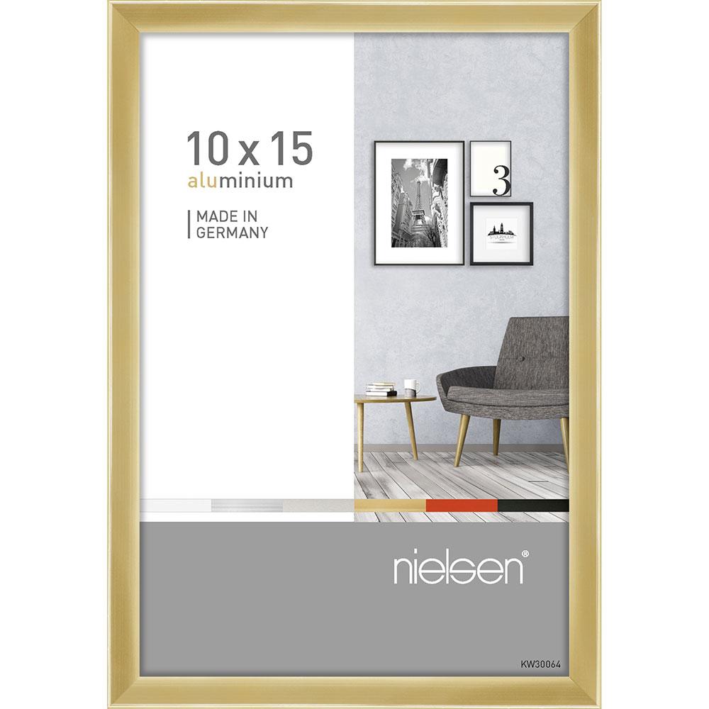 Alurahmen Pixel 10x15 cm | Gold glanz | Normalglas