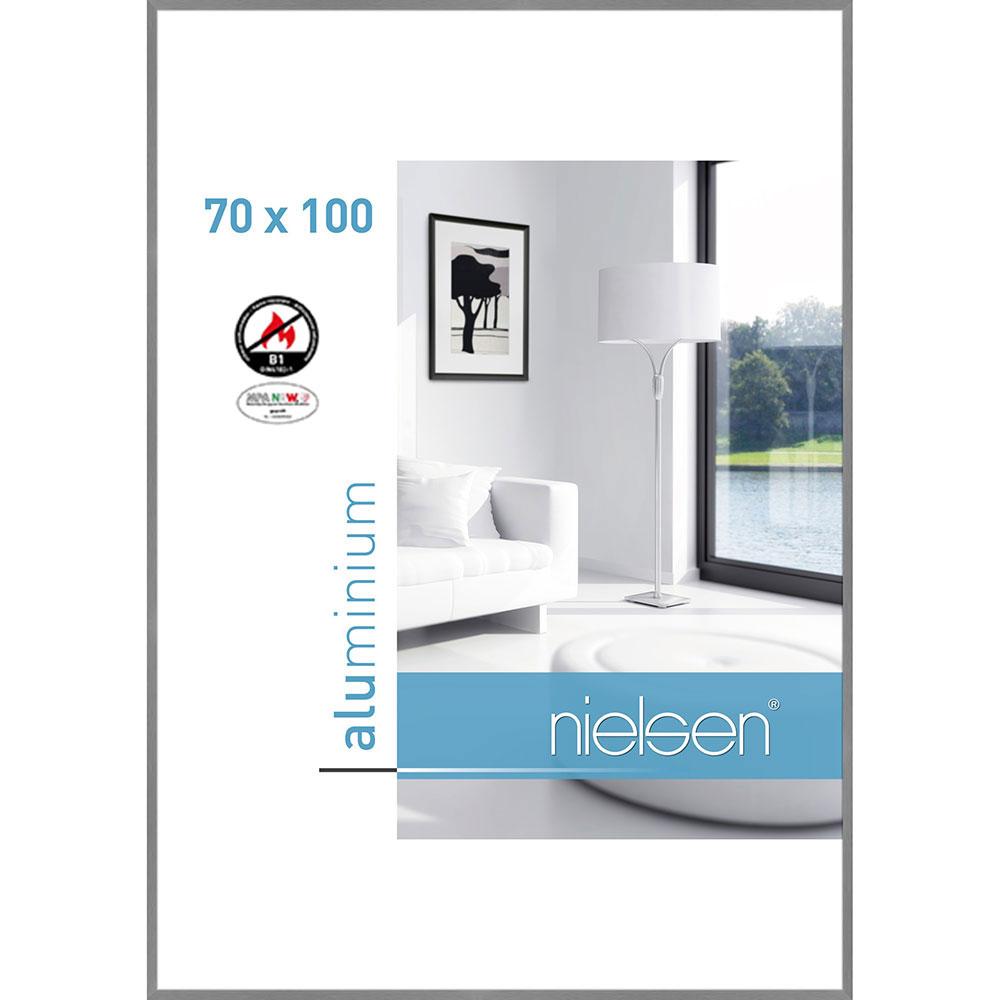B1 Brandschutzrahmen C2 70x100 cm | Struktur Grau matt | Normalglas