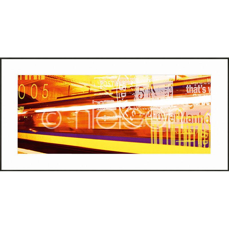 Gerahmte Kunst Metro Lower Manhattan mit Aluminium Bilderrahmen C2