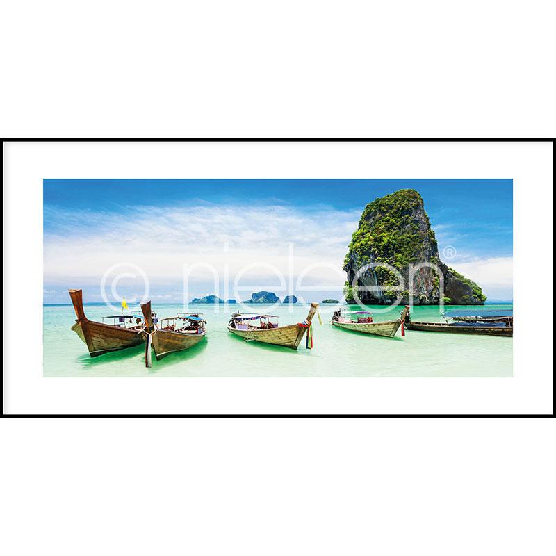 Gerahmte Kunst Exotic Island mit Aluminium Bilderrahmen C2