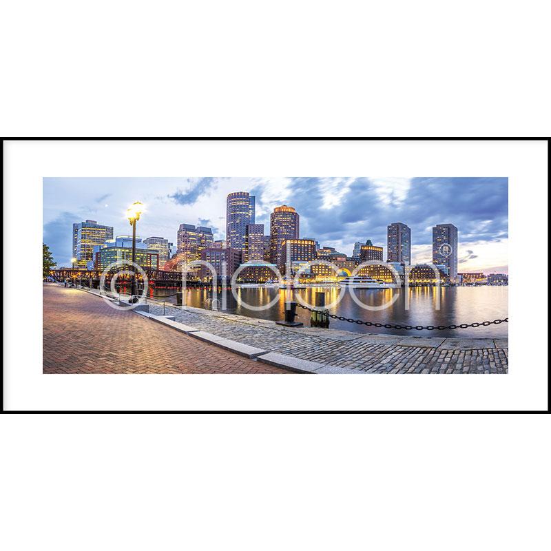 Gerahmte Kunst Promenade mit Aluminium Bilderrahmen C2