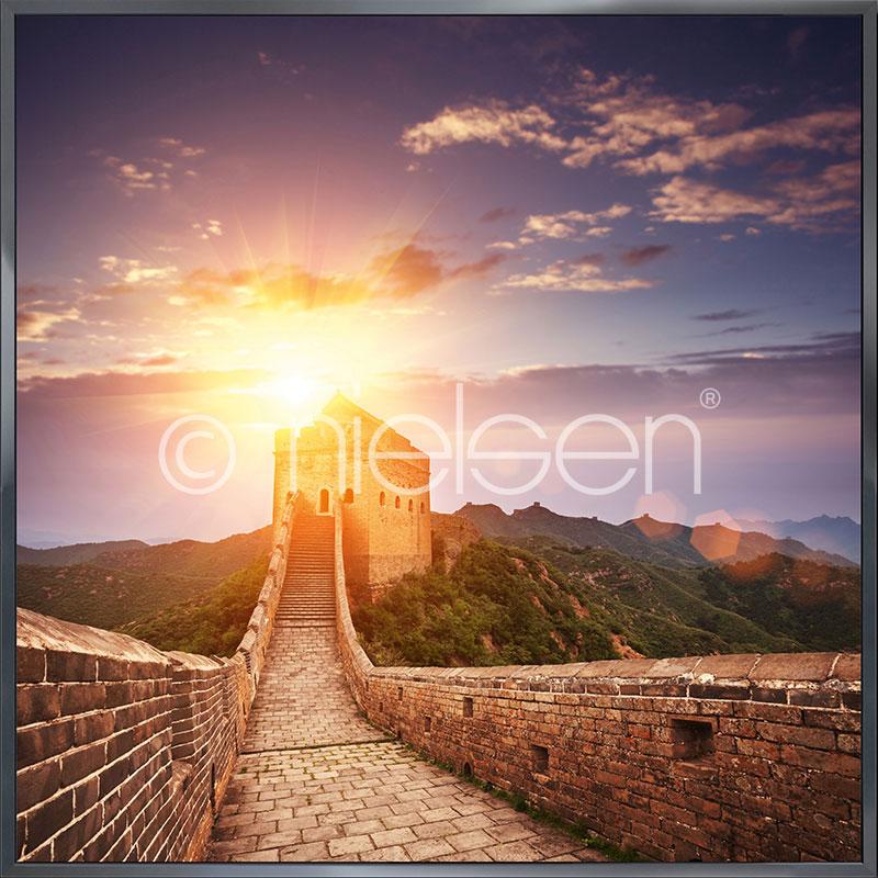 Gerahmte Kunst Chinese Wall mit Aluminium Bilderrahmen Alpha