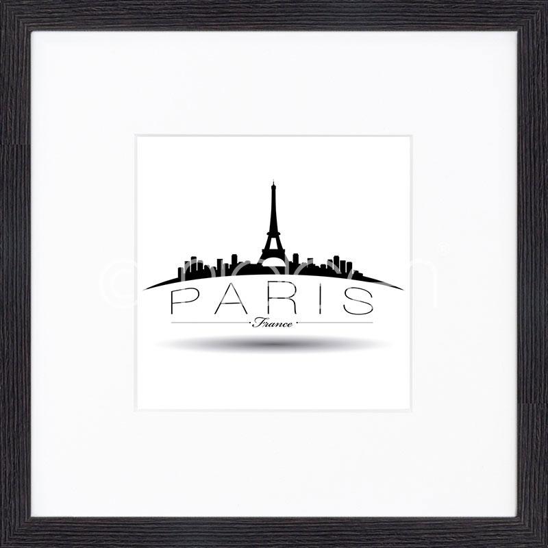 Gerahmte Kunst Paris mit Holz Bilderrahmen Quadrum