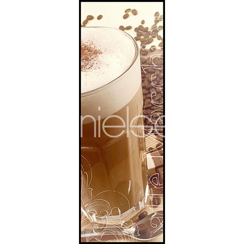 Gerahmte Kunst Coffee Time mit Aluminium Bilderrahmen C2