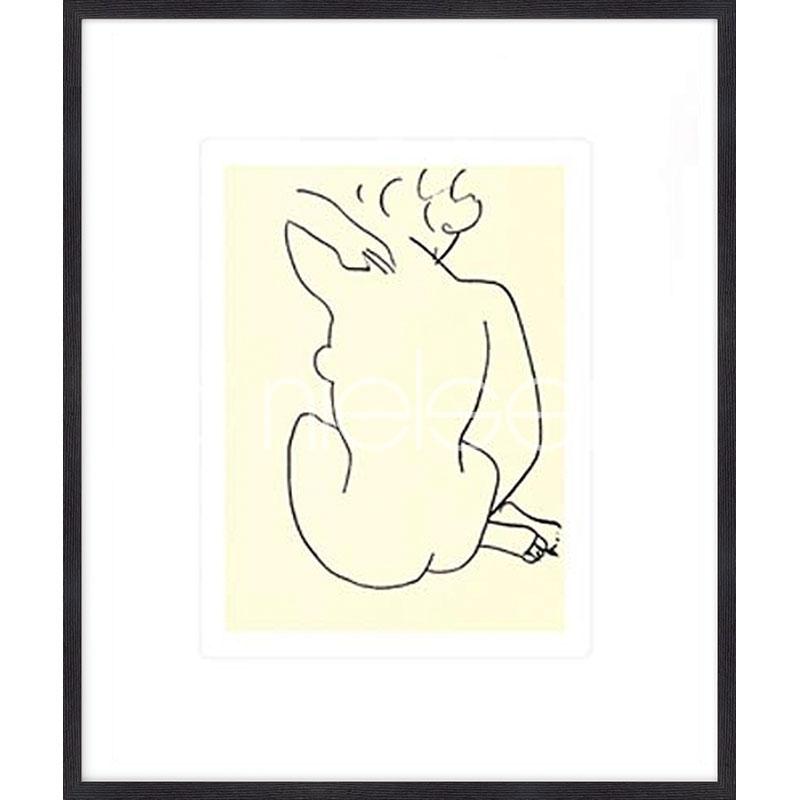 Gerahmte Kunst Nu, 1949 con Matisse mit Holz Bilderrahmen Quadrum
