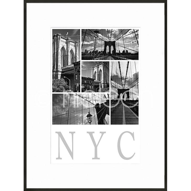 Gerahmte Kunst New York City mit Aluminium Bilderrahmen C2