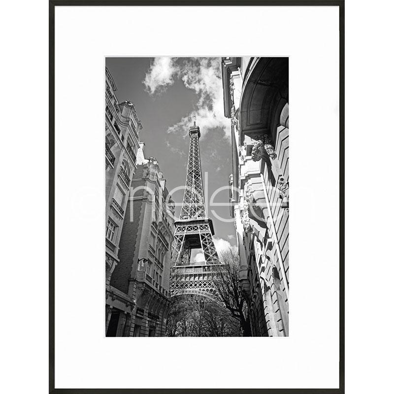 Gerahmte Kunst Eiffel Tower mit Aluminium Bilderrahmen C2