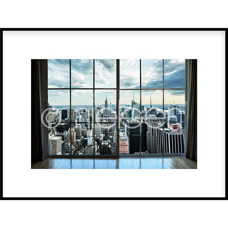 Gerahmte Kunst Living Room mit Aluminium Bilderrahmen C2