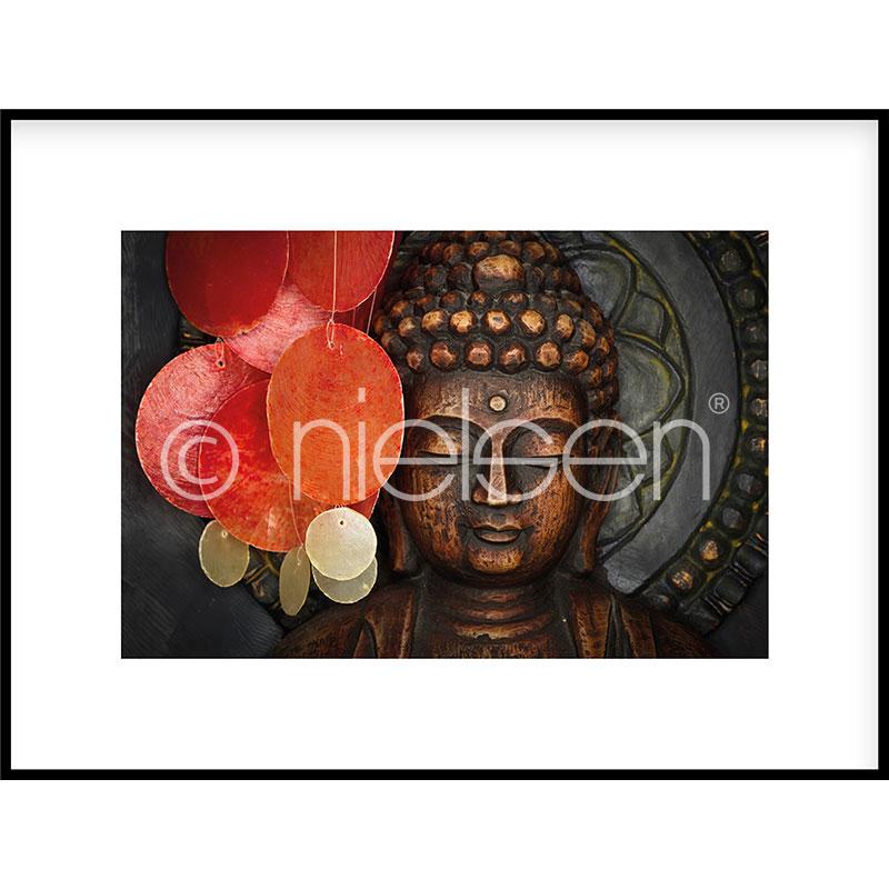 Gerahmte Kunst Buddha mit Aluminium Bilderrahmen C2