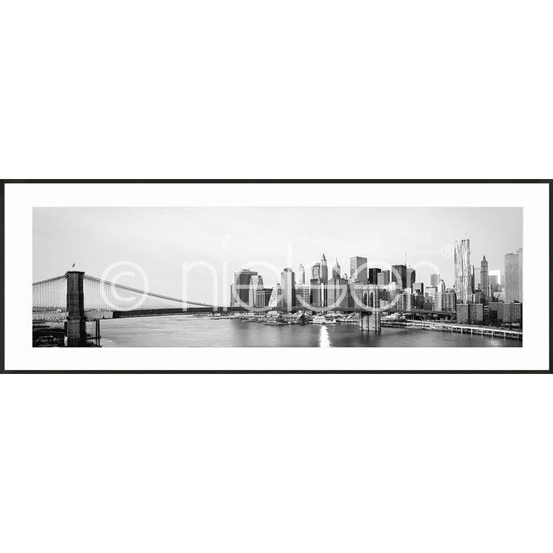 Gerahmte Kunst New York City Skyline mit Aluminium Bilderrahmen C2