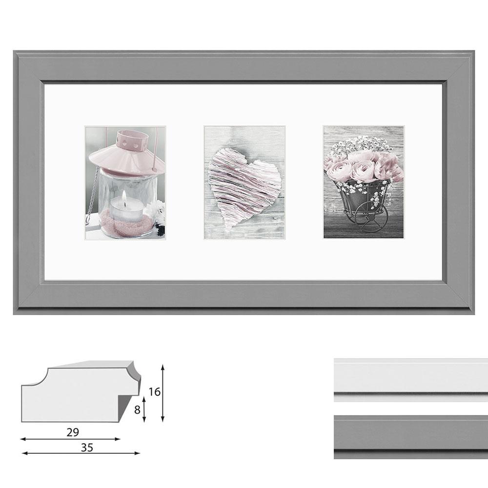 Galerie-Bilderrahmen MALMO für 3 Bilder