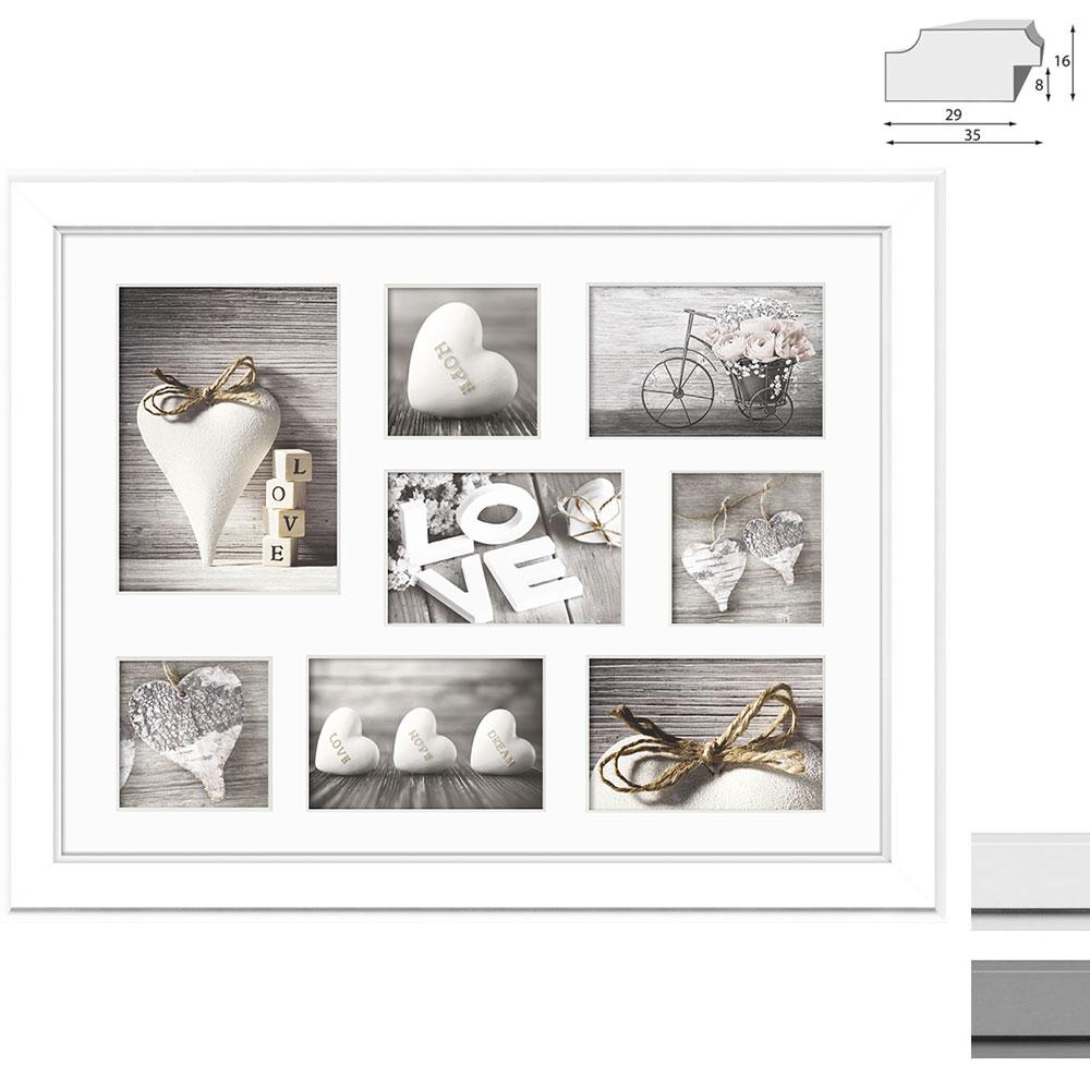 Galerie-Bilderrahmen MALMO für 8 Bilder