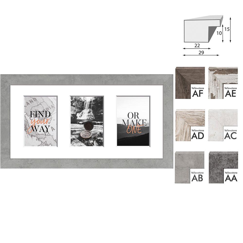 Galerie-Bilderrahmen YELLOWSTONE für 3 Bilder