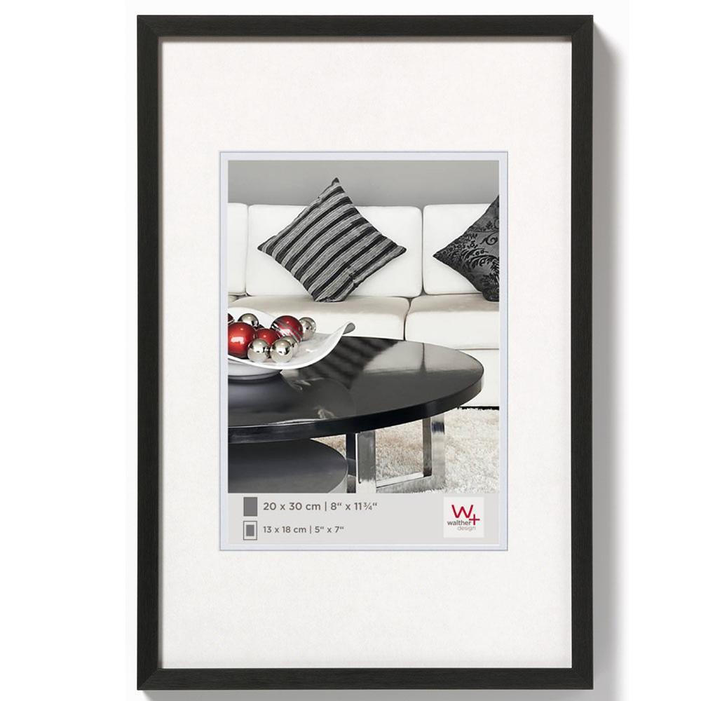 Alurahmen Chair 20x30 cm | schwarz | Normalglas