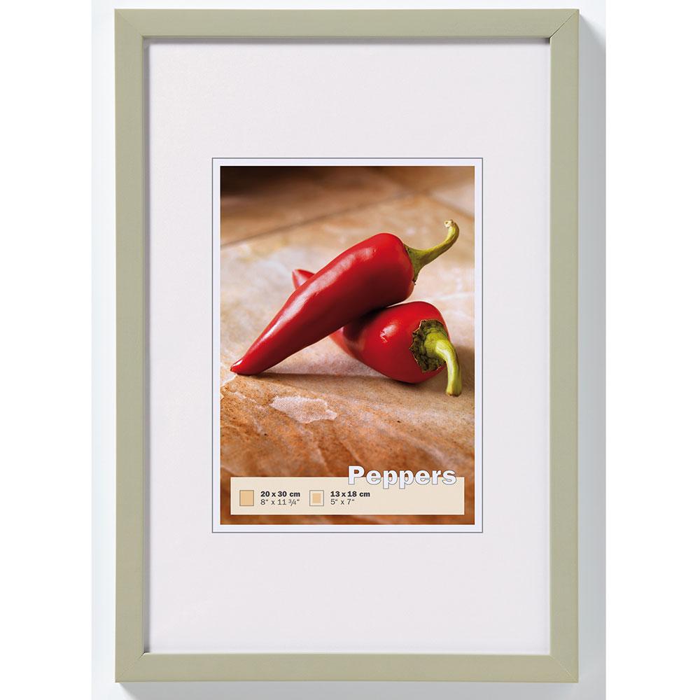 Holzrahmen Peppers 7x10 cm   grau   Normalglas