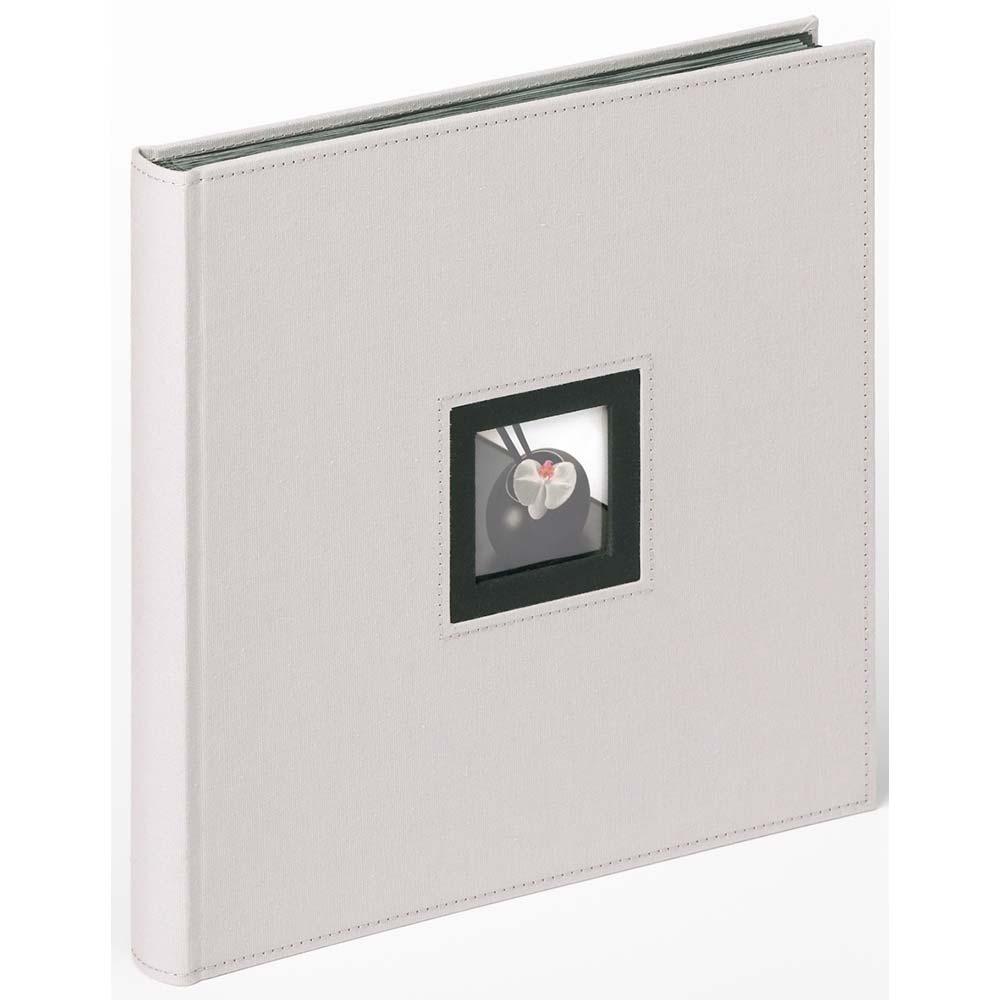 Buchalbum Black & White zum Einkleben, 30x30 cm 30x30 cm | grau