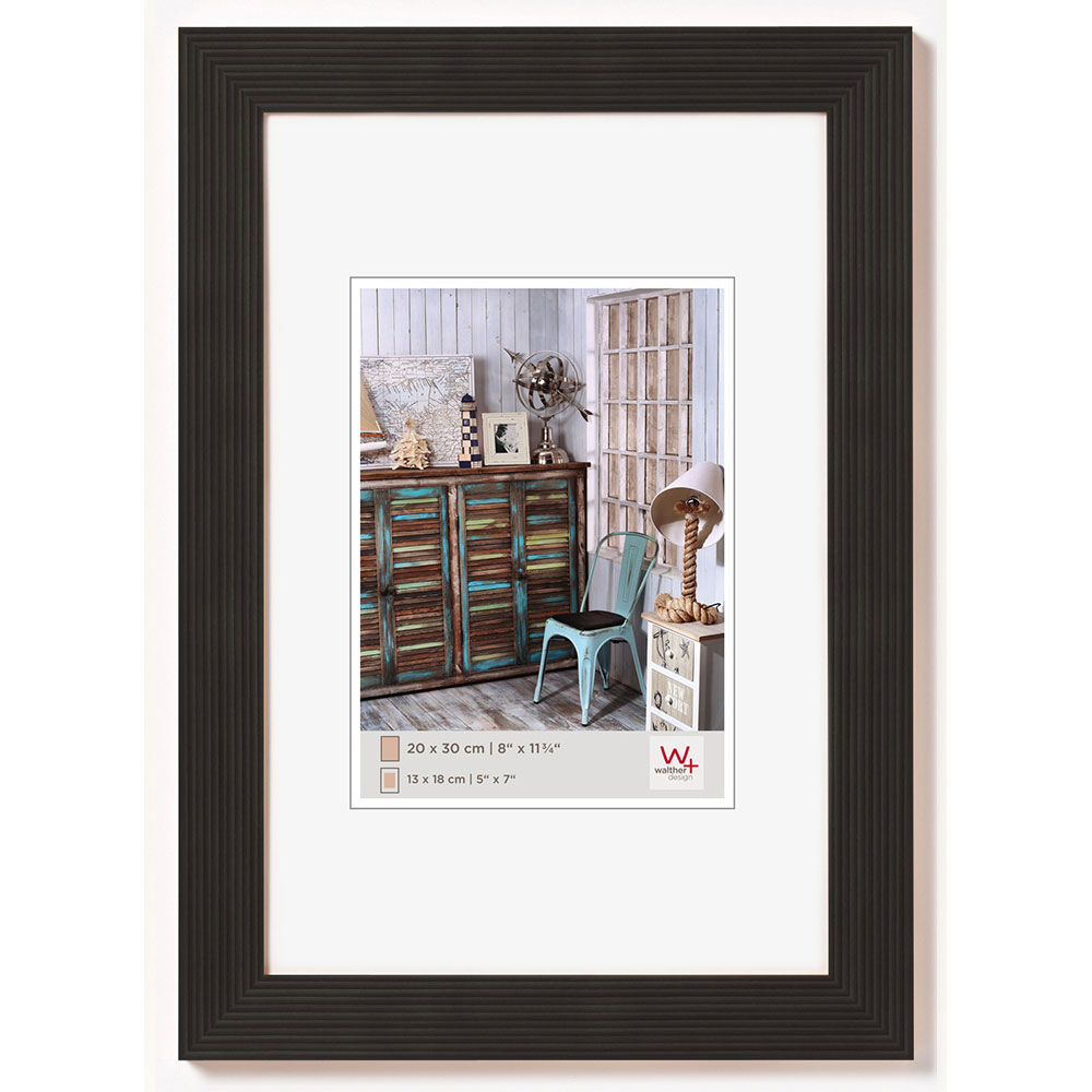 Holzrahmen Grado 10x15 | schwarz | Normalglas