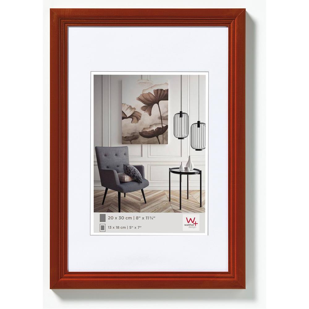 Holz Bilderrahmen Living 10x15 cm   haselnuss   Normalglas