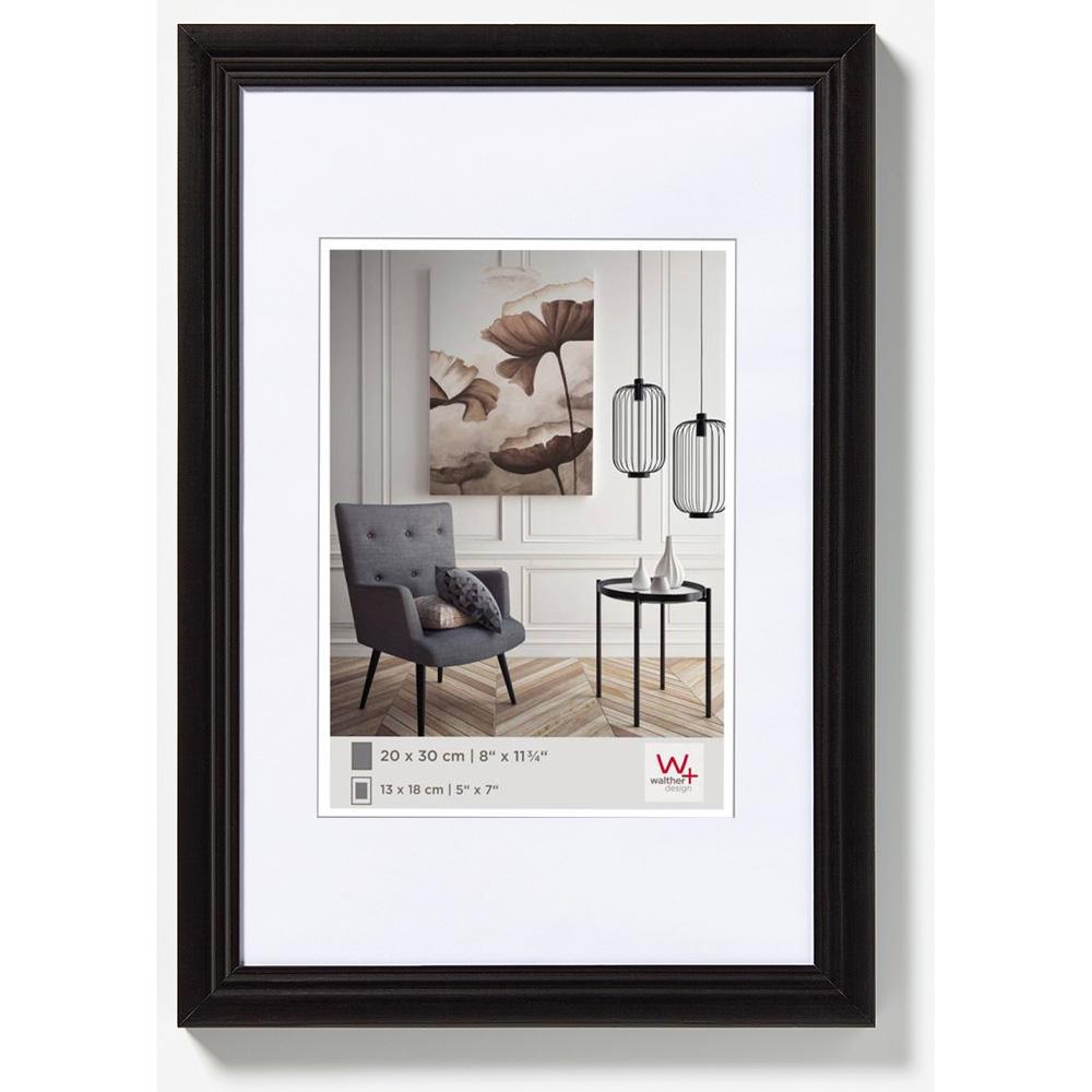 Holzrahmen Living 10x15 | schwarz | Normalglas