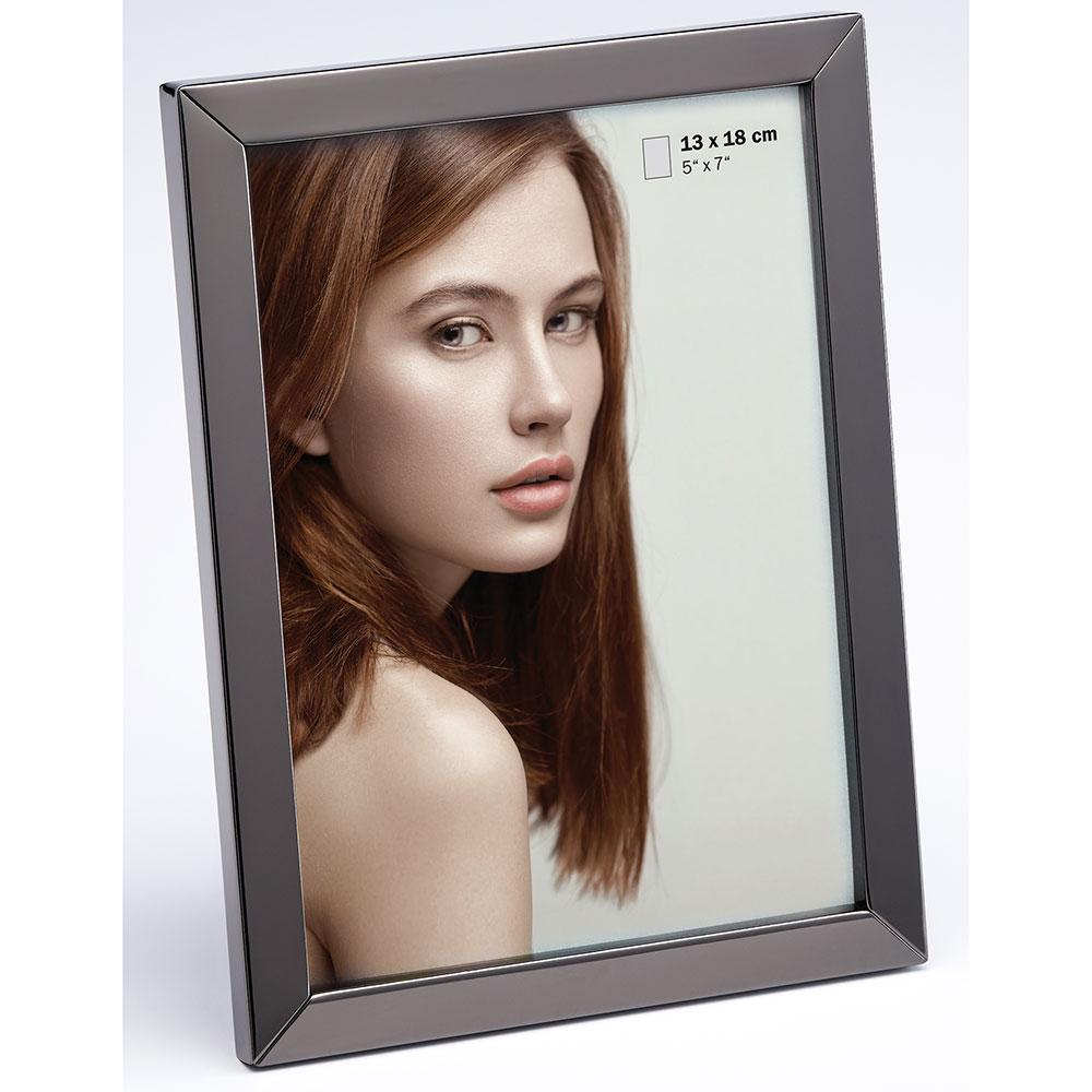 Portrait Bilderrahmen Nora 10x15 cm | anthrazit | Normalglas
