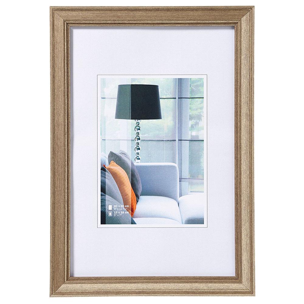 Kunststoff Bilderrahmen Lounge 13x18 cm | stahl | Normalglas