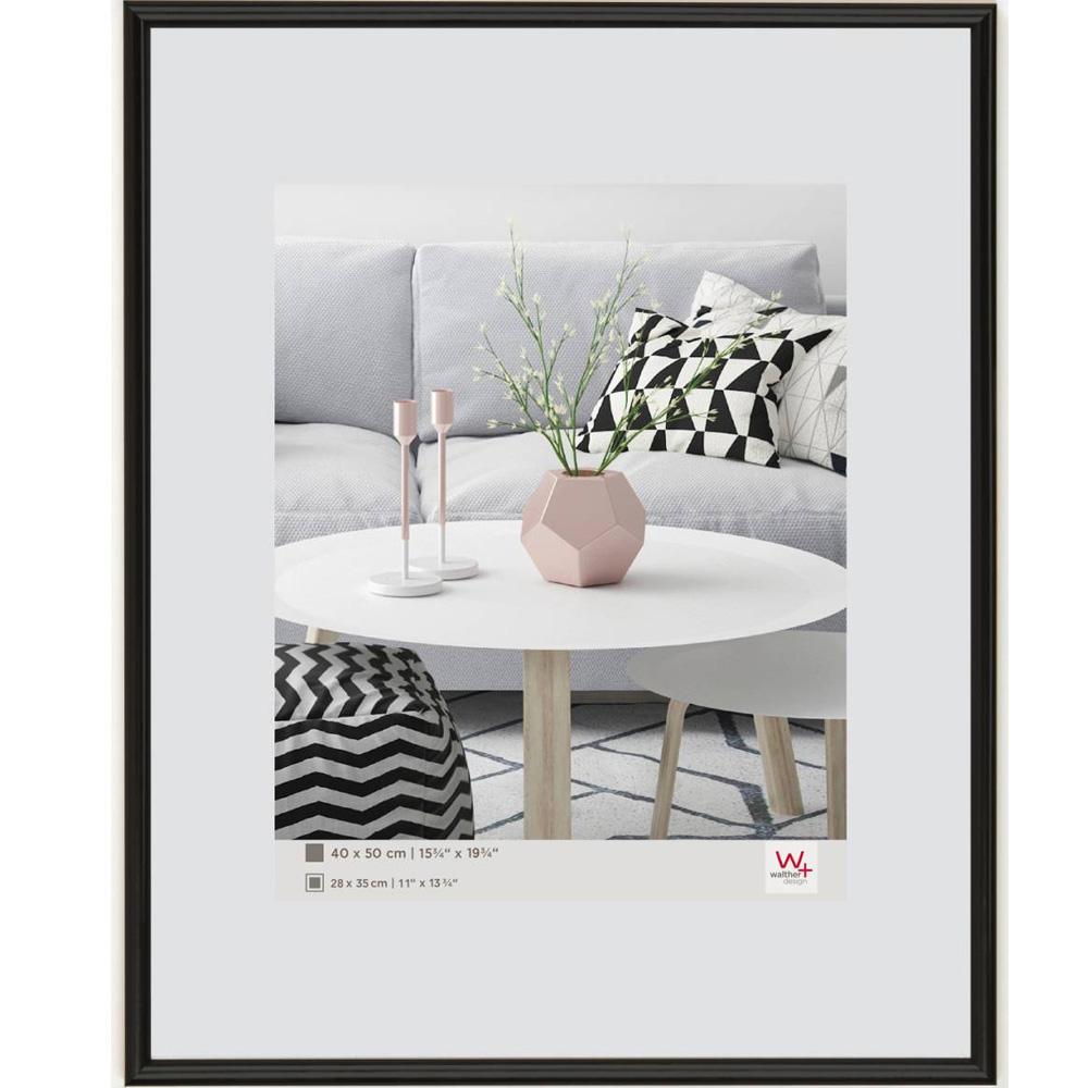 Kunststoffrahmen Galeria 20x20 cm | schwarz | Normalglas