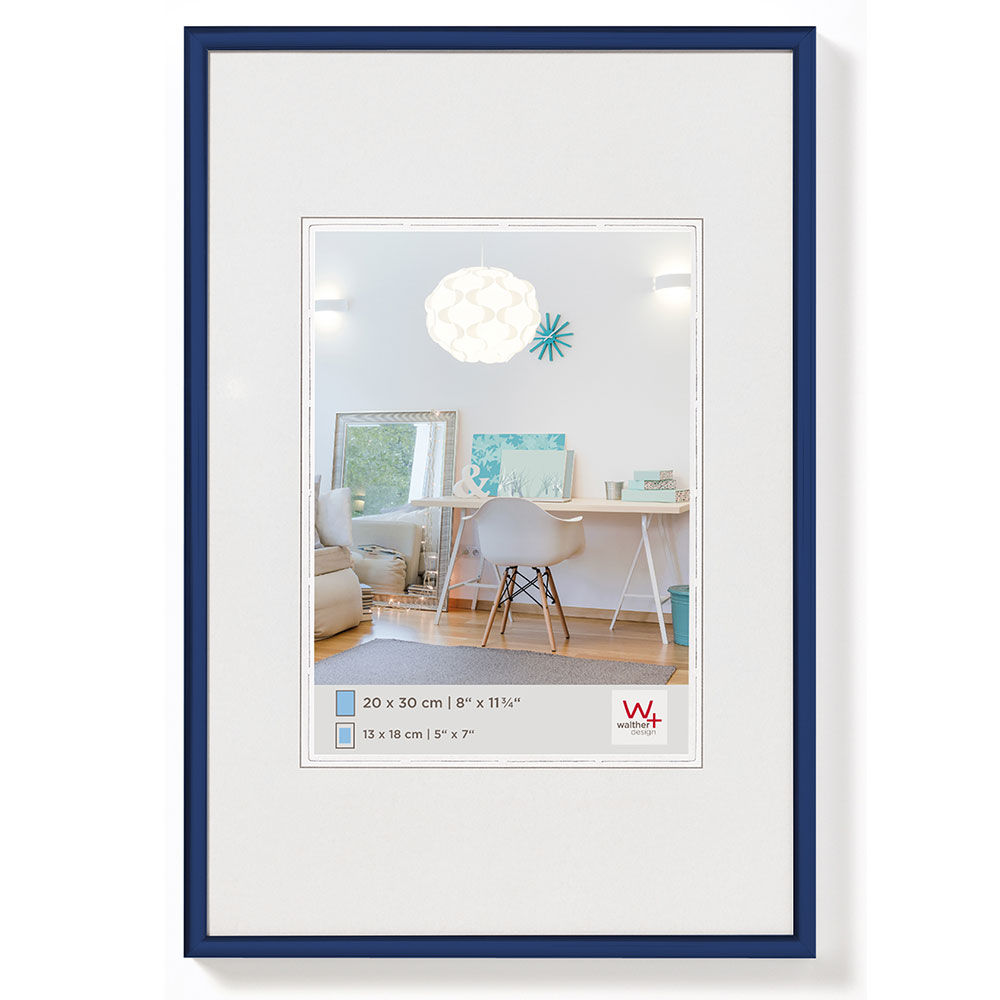 New Lifestyle Kunststoffrahmen 20x30 cm | Blau | Normalglas