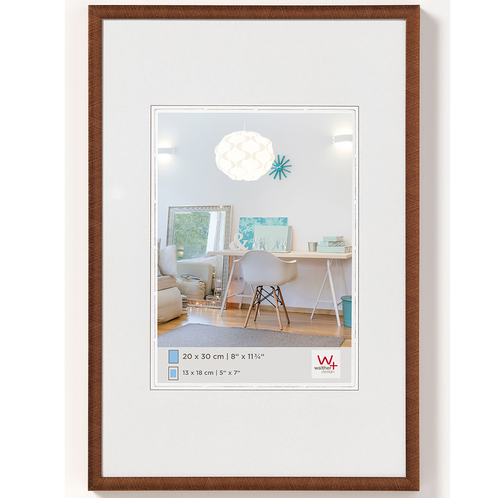 New Lifestyle Kunststoff Bilderrahmen 30x40 cm | Bronze | Normalglas